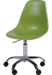 Cadeira Eames Com Rodizio Polipropileno Verde - 19302 - Sun House