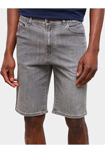 Bermuda Jeans Lacoste Relax Fit Reta Masculina - Masculino-Cinza Claro