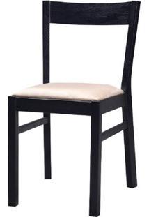 Cadeira Savannah Fixa Carvalho Preto Com Fendi - 23000 - Sun House