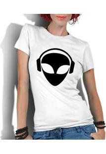 Camiseta Criativa Urbana Engraçadas Et Alien Dj - Feminino