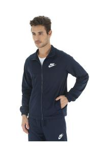 Agasalho Nike Sportswear Track Suit Pk Basic - Masculino - Azul Esc/Branco