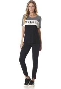Camiseta Serinah Estampada Brooklyn Feminina - Feminino