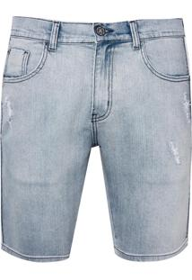 Bermuda John John Clássica Texas Jeans Azul Masculina (Jeans Claro, 44)