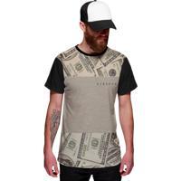 Camiseta Di Nuevo Dólares Americanos Dinheiro Estilo Thug Nine Preta a1c2f1d08ca27