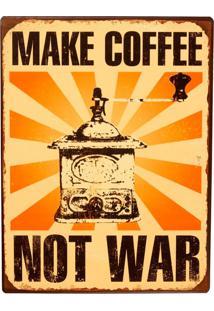 Quadro Decorativo Retro De Parede Make Coffee