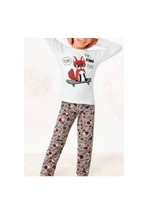 Pijama Malwee 1000077467 Infantil Branco