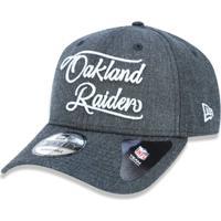 Boné 940 Oakland Raiders Nfl Aba Curva Snapback New Era - Masculino-Mescla  Escuro c5a6cb45931
