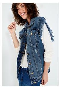 Colete Jeans Pacth Azul Medio/M