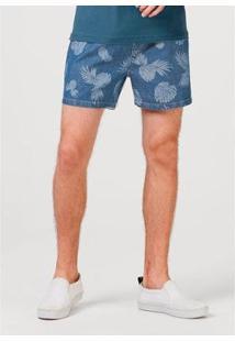 Bermuda Jeans Hering Curto Masculino - Masculino-Azul