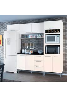 Cozinha Yasmin 0421T 8 Portas C/ Tampo – Genialflex - Branco