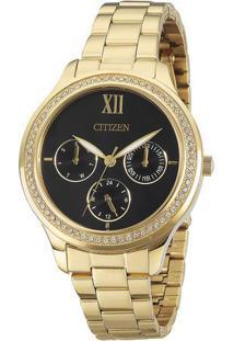 Relógio Analógico Tz28342U- Dourado & Preto- Citizencitizen