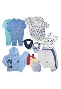 Kit 13Pçs Roupinha De Bebê Para Presente De Enxoval Lindo Rosa