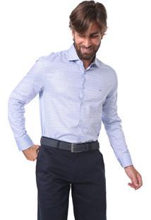 Camisa Aramis Slim Quadriculada Azul