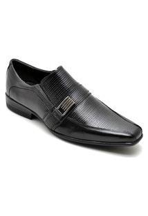 Sapato Social Masculino Elegante Em Couro - Preto 013Rt