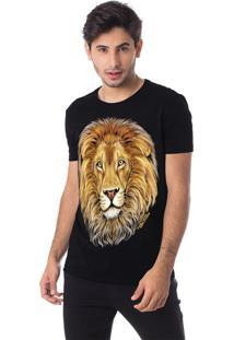 Camiseta Família Leão Gola Redonda Thiago Brado 1107000001 Preto