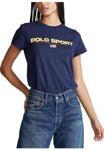 Camiseta Polo Ralph Lauren Lettering Azul