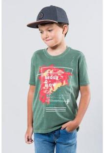 Camiseta Reserva Mini Segue O Flow Masculino Masculina - Masculino-Verde