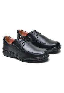 Sapato Social Masculino Couro Confortável Elegante Macio Marrom 37 Preto