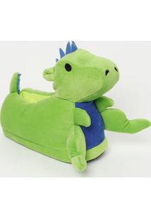 Pantufa Dinossauro- Verde & Azulpuket