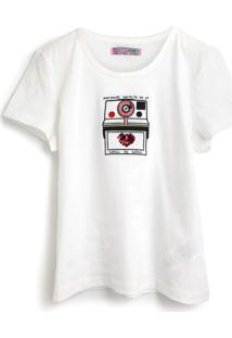 Camiseta Colcci Fun Menina Frontal Branca