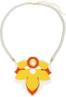 Colar Le Diamond Flor Amarelo
