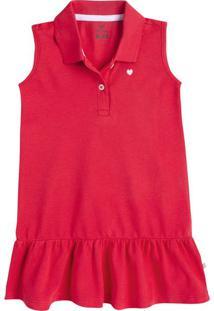 Vestido Infantil Menina Gola Polo Hering Kids