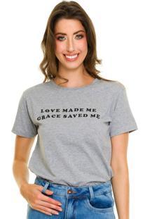 T-Shirt Jogabe Estampada Cinza