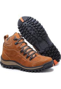 Bota Adventure Tchwm Shoes Couro Palmilha Gel Duravel Laranja