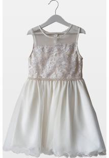Vestido Cacau Kids La Martina Off-White