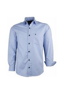 Camisa Social Amil Modelagem Clássica Algodão 1675 Azul Bebê