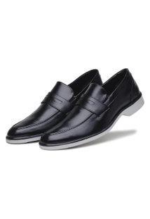 Sapato Bertelli 45002 Preto E Solado Bicolor