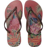 ec8788ccc0 Chinelo Havaianas Slim Tropical Feminina - Feminino-Vermelho