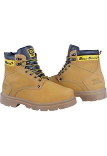 Bota Adventure Bell Boots Couro Macia Resistente Confortável Amarelo
