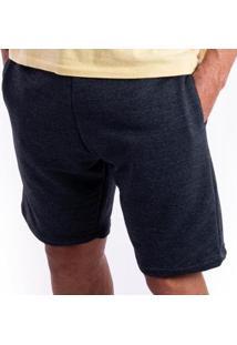 Bermuda Moletom Ox Silver Básica Bolso Masculina - Masculino