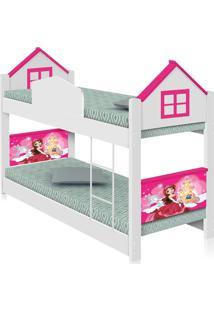 Beliche Infantil Casa Princesa Casah - Branco/Rosa - Menina - Dafiti