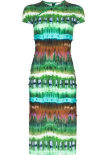 Marcia Vestido Midi Tchikiboum Tie Dye - Verde