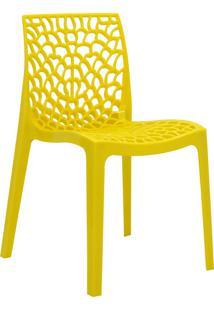 Cadeira Gruvyer Amarela Rivatti Móveis