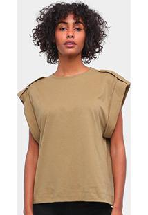 Camiseta Forum Feminina - Feminino-Verde Escuro