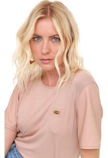 Camiseta Lança Perfume Recorte Rosa