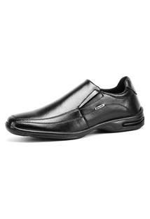 Sapato Social Linha Conforto Rebento Com Elástico Preto
