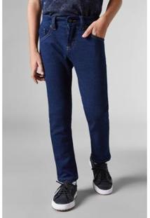 Calça Infantil Jeans Mini Pf Estique Se Jau Reserva Masculina - Masculino-Azul Petróleo