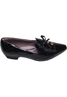 Sapato Feminino Bico Fino Salto Baixo Picadilly