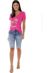 T-Shirt Studio21 Coqueiros Pink - Kanui