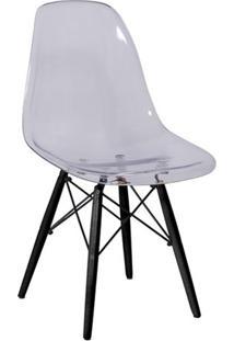 Cadeira Eames Dkr- Incolor & Preta- 80,5X46,5X42Cm
