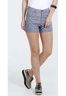 Short Feminino Estampa Flores Jeans Marisa