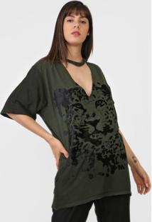 Camiseta My Favorite Thing(S) Choker Onça Verde - Kanui