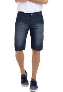 Bermuda Versatti Jeans Básica Aruba Preta
