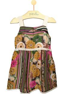 Vestido Pandi Franja Floral