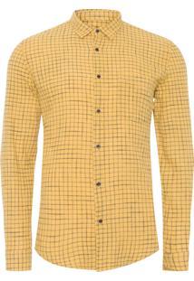 Camisa Masculina Riva Outline Color Mi - Amarelo