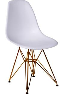 Cadeira Eames Eiffel Com Base Metal Branca